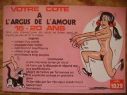 Lot De 3 Cartes Votre Cote A L'argus De L'amour - Humour