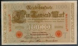 P44 Ro 45c DEU-40c  7 Chifres N°9301084M  *** UNC *** Lettre T  1000 Mark 1910 - [ 2] 1871-1918 : German Empire
