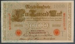 P44 Ro 45c DEU-40c  7 Chifres N°9301085M  *** UNC *** Lettre  T  1000 Mark 1910 - [ 2] 1871-1918 : German Empire