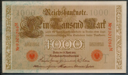 P44 Ro 45c DEU-40c  7 Chifres N°9301086M  *** UNC *** Lettre  T  1000 Mark 1910 - [ 2] 1871-1918 : German Empire