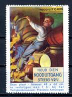 Cinderella   Protection Du Travail Veiligheidsmuseum Antwerpen  X    Nooduitgang - Erinnofilie