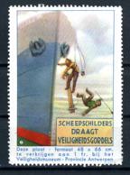 Cinderella   Protection Du Travail Veiligheidsmuseum Antwerpen  X    Scheepschildren - Erinnofilie