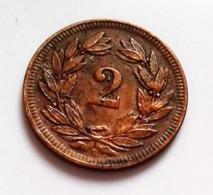 Suisse, Confédération Helvétique, 2 Rappen 1906 B,(B1231) - Suiza