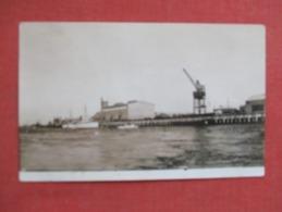 RPPC   To ID  Harbor Scene  Has Crane  Ref 3646 - Postcards