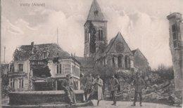CARTE ALLEMANDE - GUERRE 14-18 - WESTFRONT - VAILLY - SOLDATS AUTOUR D'UNE FONTAINE - Guerre 1914-18