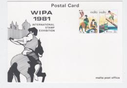 Malta Postal Stationary 1981 Europa CEPT W/WIPA Print - Mint  (G76-143) - Europa-CEPT