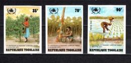 TOGO N° 1098 à 1100  NON DENTELES  NEUFS SANS CHARNIERE COTE  ? €  PROGRAMME ALIMENTAIRE - Togo (1960-...)