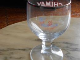 Verre De Chimay  60 Ans Vélo Clud De Momignies - Glazen