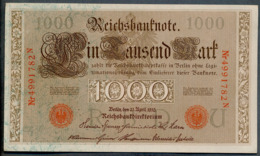 P44 Ro 45c DEU-40c  7 Chifres N°4991782N *** UNC *** Lettre  U  1000 Mark 1910 - [ 2] 1871-1918 : German Empire