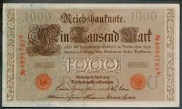 P44 Ro 45c DEU-40c  7 Chifres N°4991783N *** UNC *** Lettre  U  1000 Mark 1910 - [ 2] 1871-1918 : German Empire