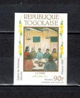 TOGO N° 1216  NON DENTELE  NEUF SANS CHARNIERE COTE  ?   PAQUES  TABLEAUX  PEINTRE - Togo (1960-...)