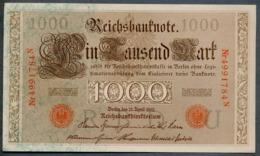 P44 Ro 45c DEU-40c  7 Chifres N°4991784N *** UNC *** Lettre  U  1000 Mark 1910 - [ 2] 1871-1918 : German Empire