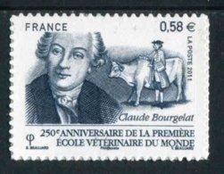 """TIMBRE** De 2011 Autoadhésif """"0,58 € - Claude BOURGELAT 250 Ans Première Ecole Vétérinaire Du Monde à Lyon"""" - Autoadesivi"""