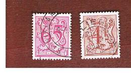 BELGIO (BELGIUM)   - SG 2461.2468  - 1980  HERALDIC LION (17X20)  - USED - Storia Postale