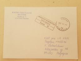 Lithuania Litauen Cover Sent From Kaunas To Pagegiai 2012 - Lituania