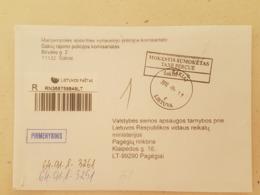 Lithuania Litauen Cover Sent From Sakiai To Pagegiai 2012 - Lituania