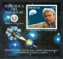 5028 - PARAGUAY - Block 308 Postfrisch - WELTRAUM / WERNHER VON BRAUN / SPACE - Mnh Mini Sheet - Paraguay