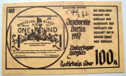 Gutschein 100 Pfennig Jamborette 1987 Berlin - Padvinderij