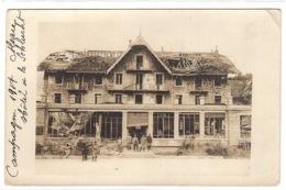 88 - CARTE PHOTO - 1917 - HOTEL DE LA SCHLUCHT - Francia
