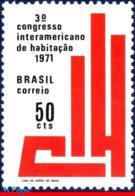 Ref. BR-1183 BRAZIL 1971 ., CIH, 3RD INTER-AMERICAN, HOUSING CONGRESS, EMBLEM, MI# 1277, MNH 1V Sc# 1183 - Brasilien