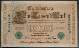 P45b Ro 46b DEU-69b  7 Chifres N°5891545B *** AUNC *** Lettre  D  1000 Mark 1910 - [ 2] 1871-1918 : German Empire