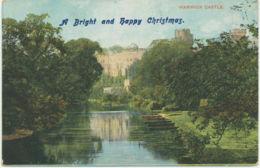 UK WARWICK Castle Ca. 1910 Very Rare VFU Unused CHRISTMAS GREETINGS CARD - Warwick
