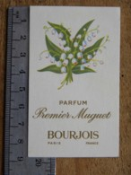 Carte Parfumée - BOURJOIS PARIS - Parfum Premier Muguet - Cartes Parfumées