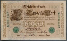 P45b Ro 46b DEU-69b  7 Chifres N°5891546B *** AUNC *** Lettre  D  1000 Mark 1910 - [ 2] 1871-1918 : German Empire