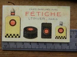 Carte Parfumée - FETICHE - L.T.PIVER-PARIS - Perfume Cards