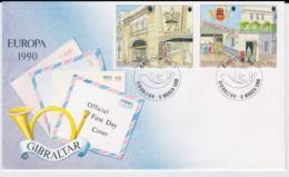 Gibraltar 1990 FDC Europa CEPT  (G103-2) - Europa-CEPT