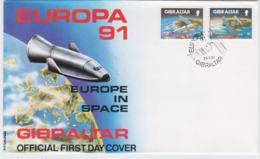 Gibraltar 1991 FDC Europa CEPT  (G103-2) - 1991