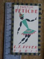 Carte Parfumée - LT PIVER PARIS - Parfum Fétiche - Calendrier 1927 1928 - Perfume Cards