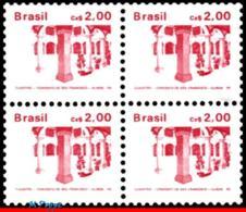 Ref. BR-2065-Q BRAZIL 1986 ARCHITECTURE, HISTORIC & ART HERITAGE,, 1987, ST. FRANCIS CONVENT, BLOCK MNH 4V Sc# 2065 - Nuovi