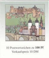 BRD MH 33 I, Mit Plattenfehler: Punkt Im Haus (Feld 1), Postfrisch **, Heidelberg 1996 - [7] République Fédérale