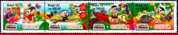 Ref. BR-2373A BRAZIL 1992 COMICS, ECOLOGY, FLOWERS, BIRDS,, BUTTERFLY, FAUNA,FLORA, MI# 2479-82, MNH 4V Sc# 2370-2373 - Parrots