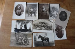 10  Photos Militaires   Divers 1918 1940 Lot 2 - Guerra, Militares