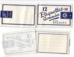3 CARNETS De 12 ETIQUETTES GOMMEES VIERGES  (incomplets) POUR BAGAGES N° 385  Marque LIERRE BLEU - Other