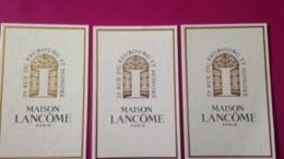 LANCOME MAISON   3 Cartes - Cartes Parfumées