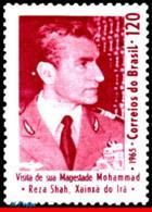 Ref. BR-998 BRAZIL 1965 FAMOUS PEOPLE, VISIT OF SHAH MOHAMMED, RIZA PAHLAVI OF IRAN, MNH 1V Sc# 998 - Brésil