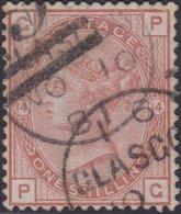 England  .   SG   163    ( 2 Scans ) .  Wmk  Imp. Crown    .  O   .    Cancelled .   /   .   Gebruikt - 1840-1901 (Victoria)
