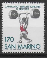 SAN MARINO - 1980 - CAMPIONATI EUROPEI JUNIORES PESISTICA - NUOVO NMH **  ( YVERT 1020 - MICHEL 1221) - Pesistica
