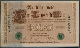 P45b Ro 46b DEU-69b  7 Chifres N°8953889B *** UNC *** Lettre  E  1000 Mark 1910 - 1871-1918: Deutsches Kaiserreich