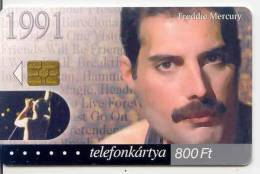 Telecarte HUNGRIE  *  FREDDIE MERCURY * MUSIQUE * Phonecard * TELEFONKARTE - Music
