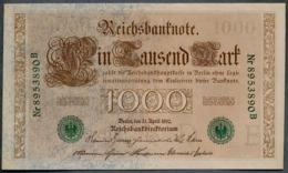 P45b Ro 46b DEU-69b  7 Chifres N°8953890B *** UNC *** Lettre  E  1000 Mark 1910 - [ 2] 1871-1918 : German Empire