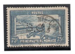 MONACO -- PERFORE - PERFIN -- 75 C. Bleu Place Du Palais - Errors And Oddities