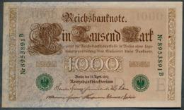 P45b Ro 46b DEU-69b  7 Chifres N°8953891B *** UNC *** Lettre  E  1000 Mark 1910 - [ 2] 1871-1918 : German Empire