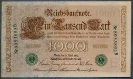 P45b Ro 46b DEU-69b  7 Chifres N°8953892B *** UNC *** Lettre  E  1000 Mark 1910 - [ 2] 1871-1918 : German Empire