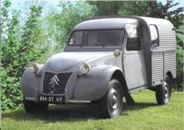 TRANSPORT AUTOMOBILE 2 CV CITROËN PASSION 2 PATTES N° 10 2 CV CAMIONNETTE AZU 1956  EDIT.CREA7 - Passenger Cars