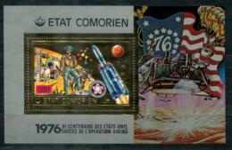 5042 - KOMOREN - Block 58 ** - WELTRAUM / 200 JAHRE USA / BI-CENTENNIAL USA / SPACE - Mnh Mini Sheet - Komoren (1975-...)