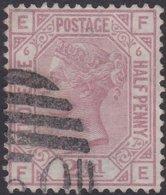 England  .   SG   141  .   Pl.  6  ( 2 Scans ) .  Wmk  Oeb     .  O   .    Cancelled .   /   .   Gebruikt - Oblitérés